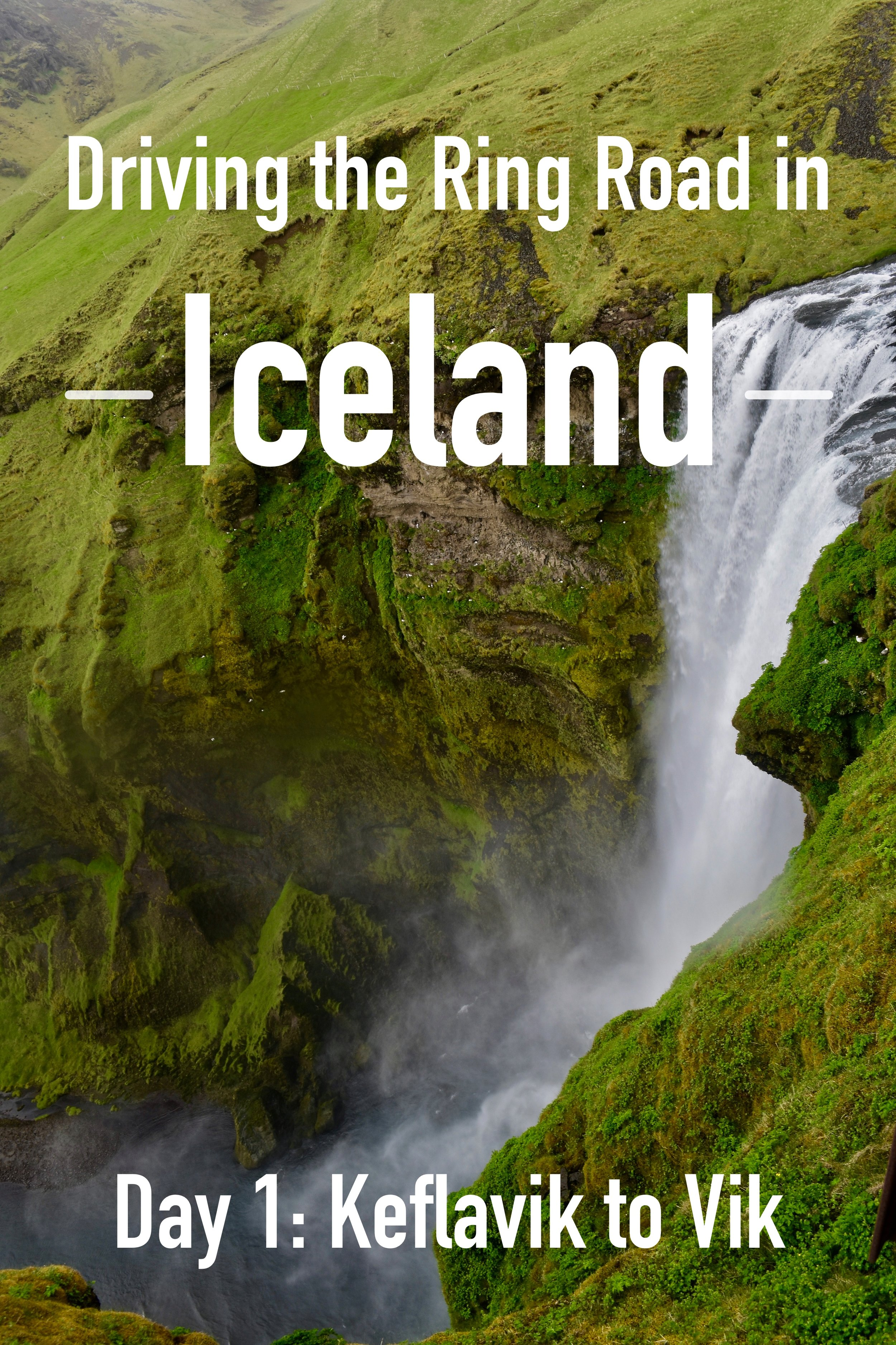 Our Experience on our First Day of Driving the Ring Road in Iceland.  We went from Keflavik Airport to Vik, visiting all of the major sights in between: Seljalandsfoss, Skogafoss, Dyrholaey, Gljufrabui, Vik, Vikurkirkja. #Iceland #RingRoad #Vik #Keflavik #RoadTrip #SouthCoast