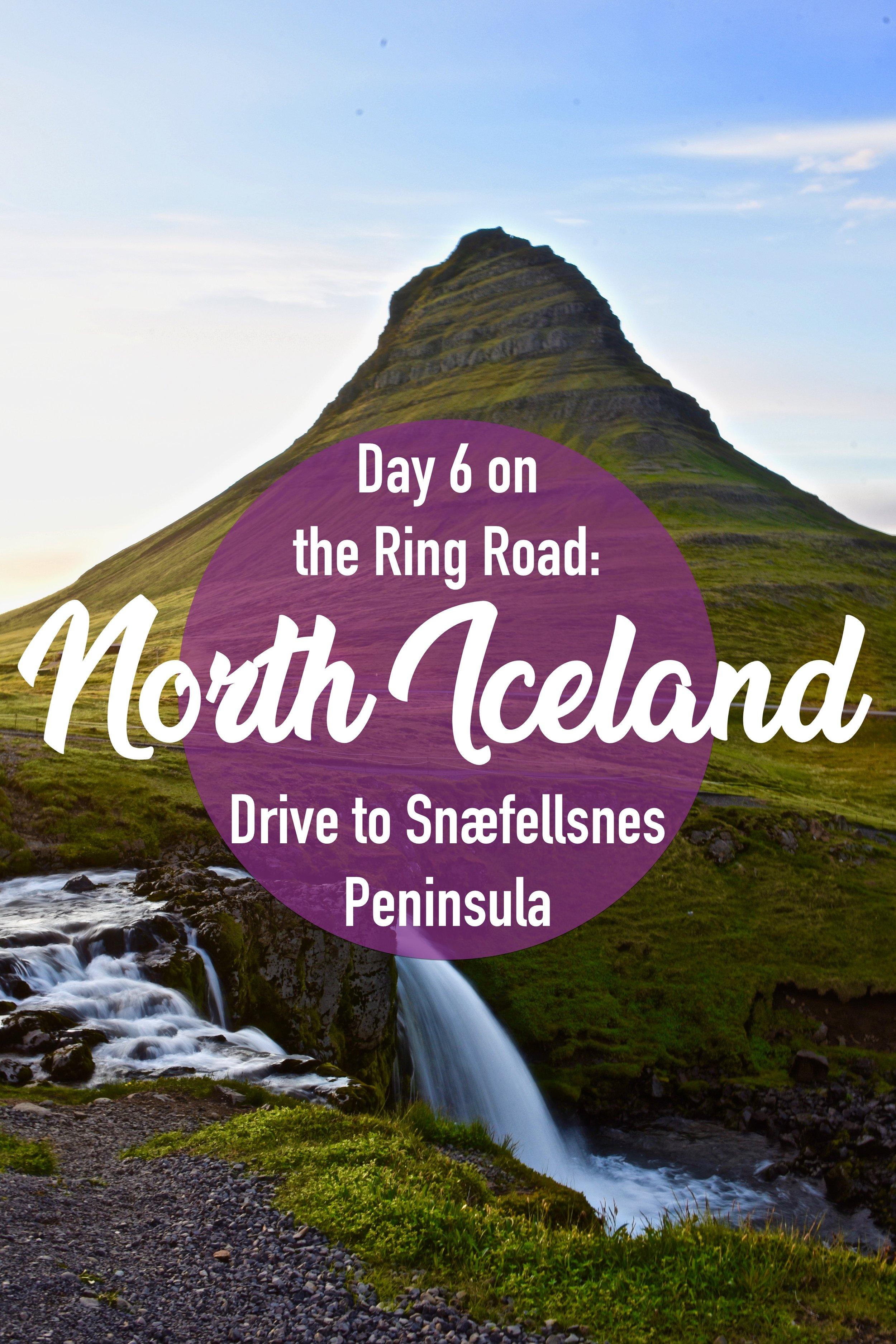 Driving through North Iceland on the Ring Road.  We went from Akureyri to Grundarfjördur to take a detour on the Snæfellsnes Peninsula. #northiceland #snæfellsnes #iceland #ringroad #europe #roadtrip #kirkjufell