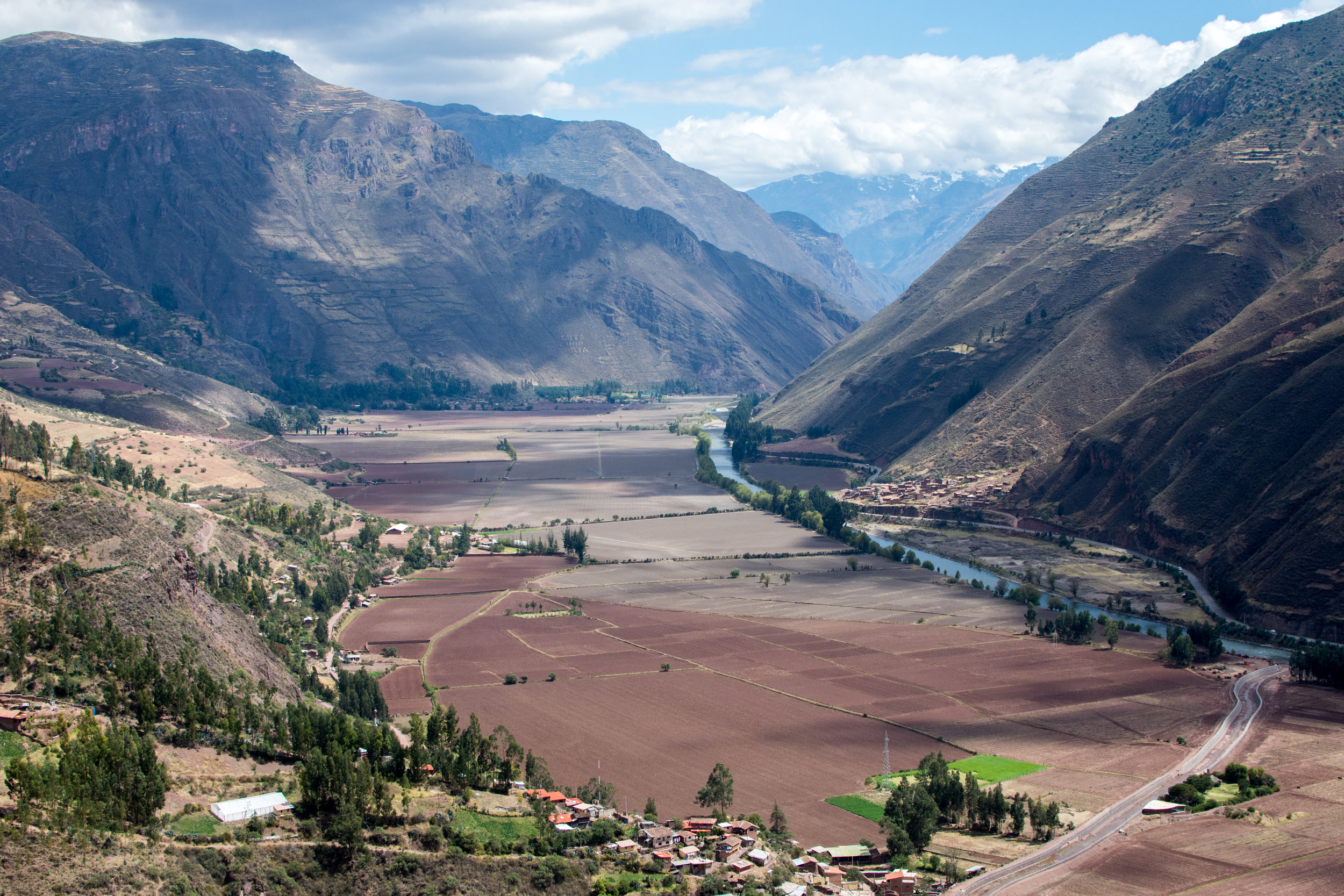 View overlooking the Sacred Valley