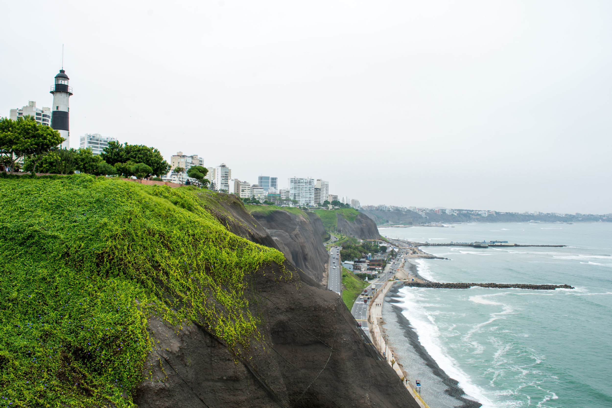 Miraflores Cliffside in Lima, Peru