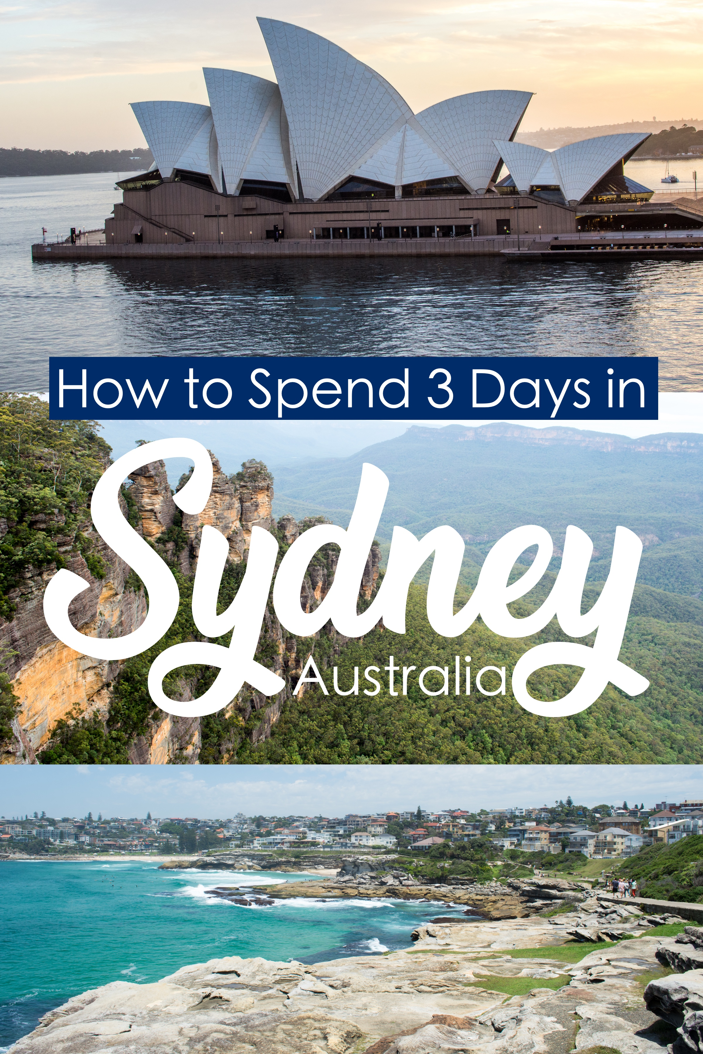 How to Spend 3 Days in Sydney Australia – First-Timers Guide.  3 Perfect Days in Sydney. #Sydney #australia #oceania