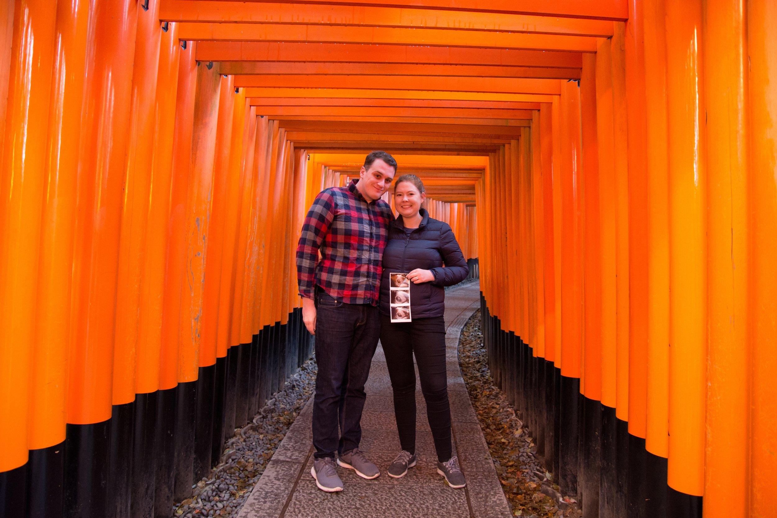 11 Weeks Pregnant at Fushimi Inari-taisha shrine in Kyoto, Japan
