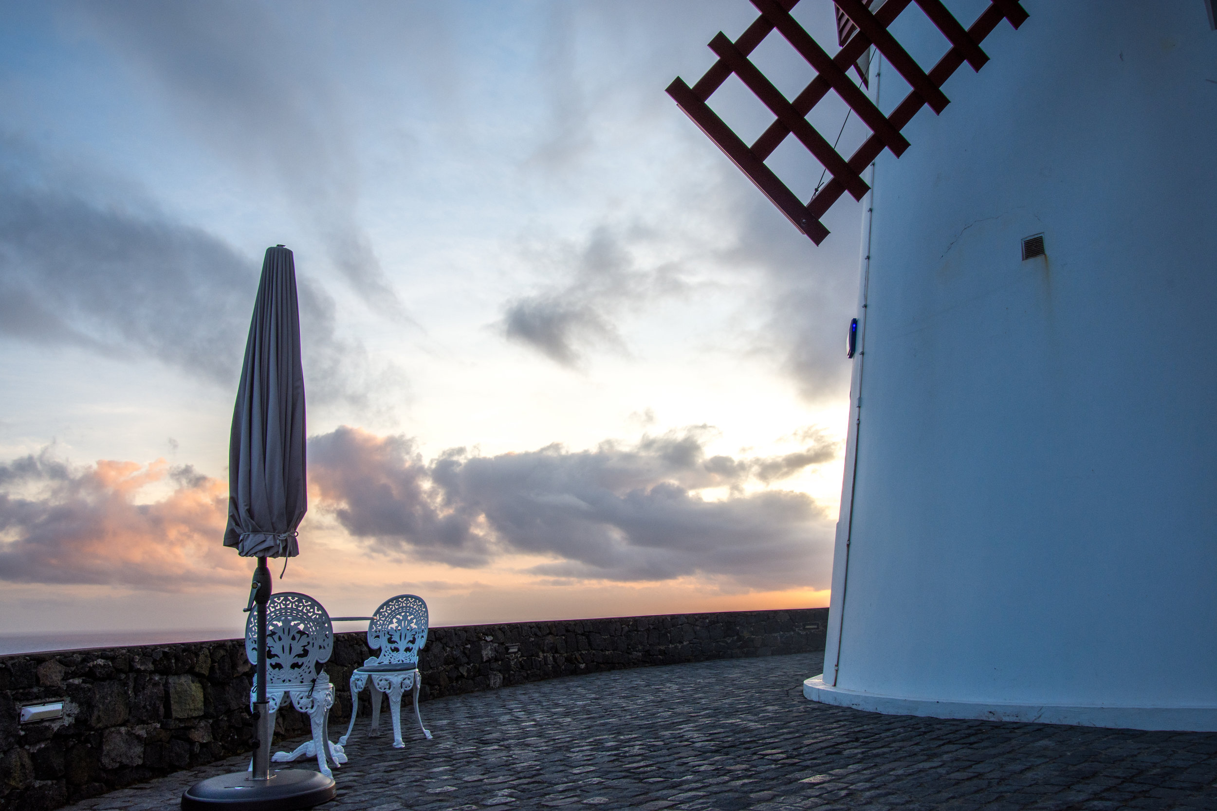 Table outside Windmill in São Miguel