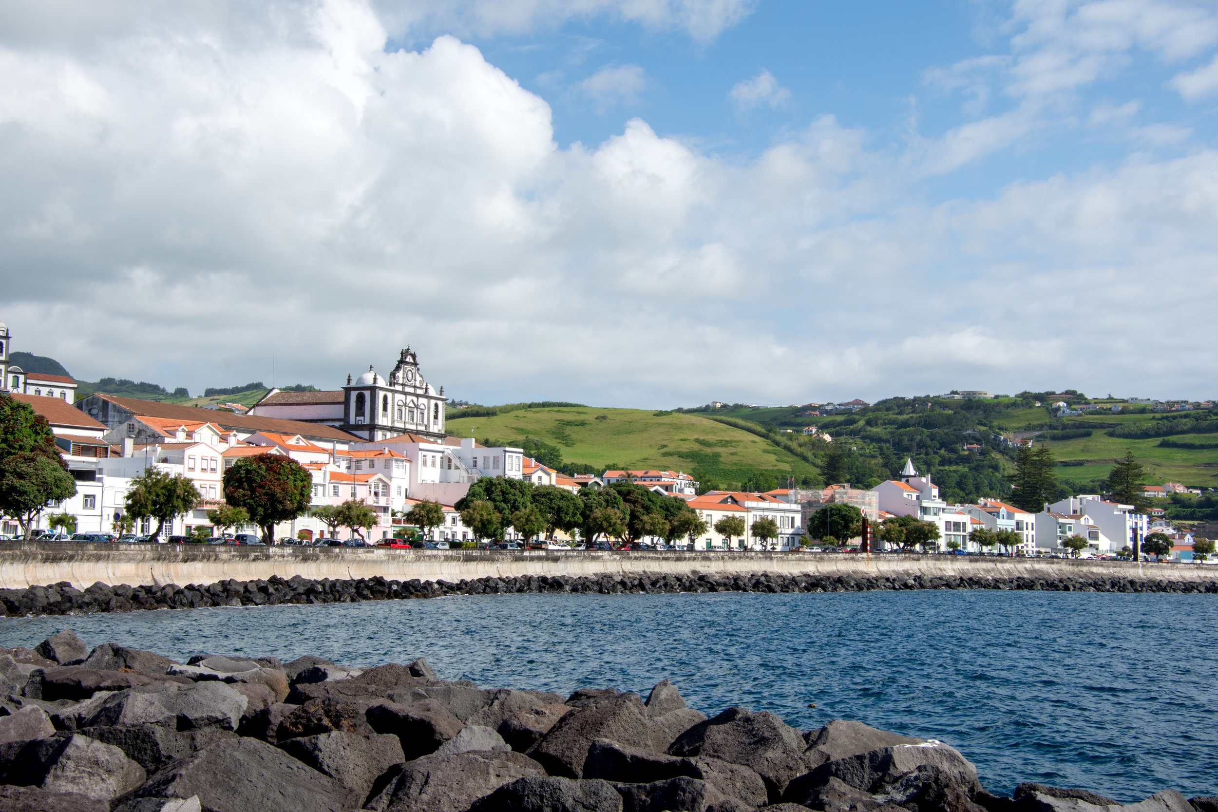 The city of Horta on Faial Island