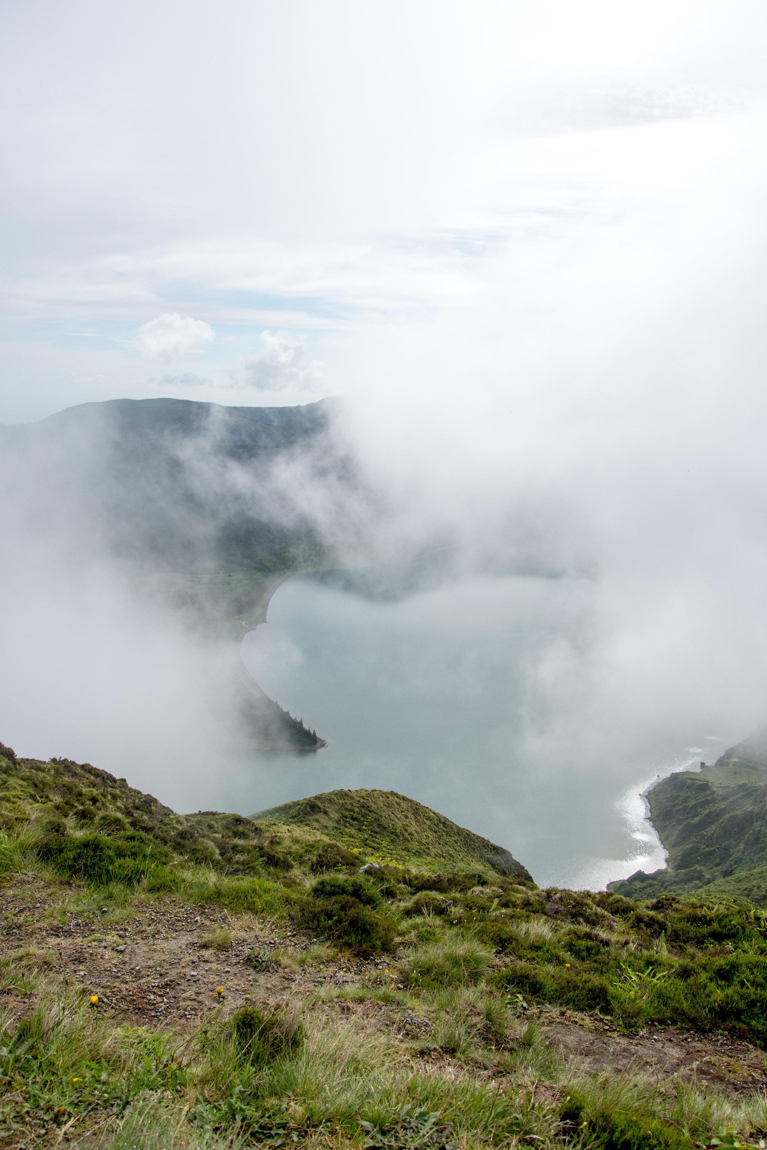 View of Lagoa do Fogo from Pico da Barrosa – São Miguel Island