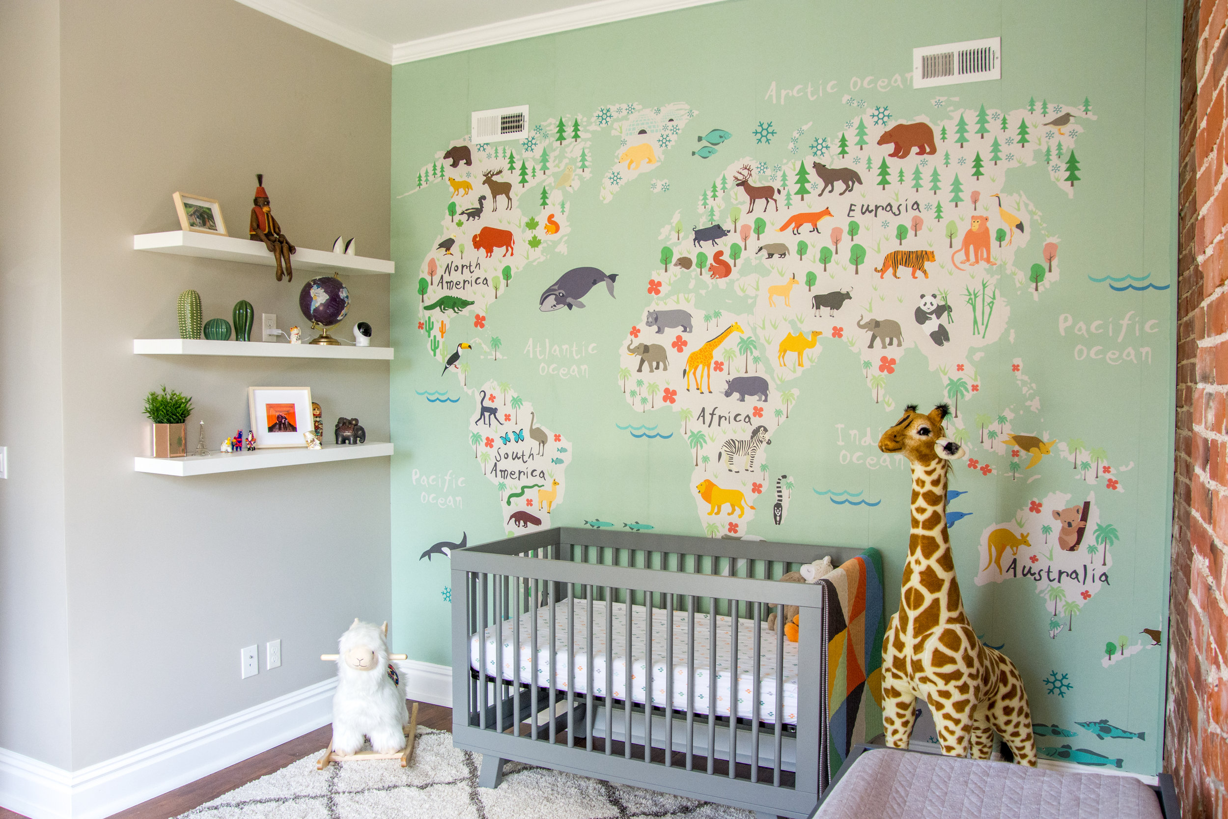 Modern Gender-Neutral Travel Safari Nursery