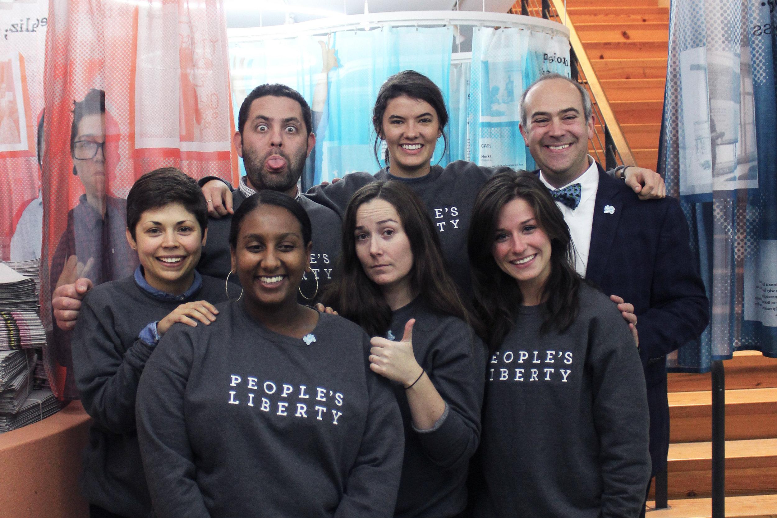 Front Row (Left – Right) Megan Trischler, Semi Tsegay, Aurore Fournier, Hannah Gregory Back Row (Left – Right) Jake Hodesh, Anna Maffey, Eric Avner