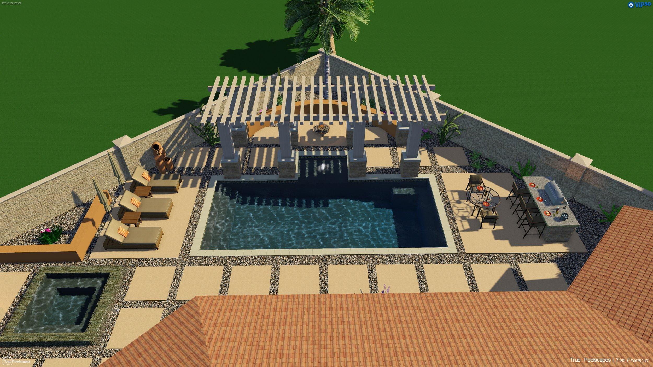 Sample geometric pool