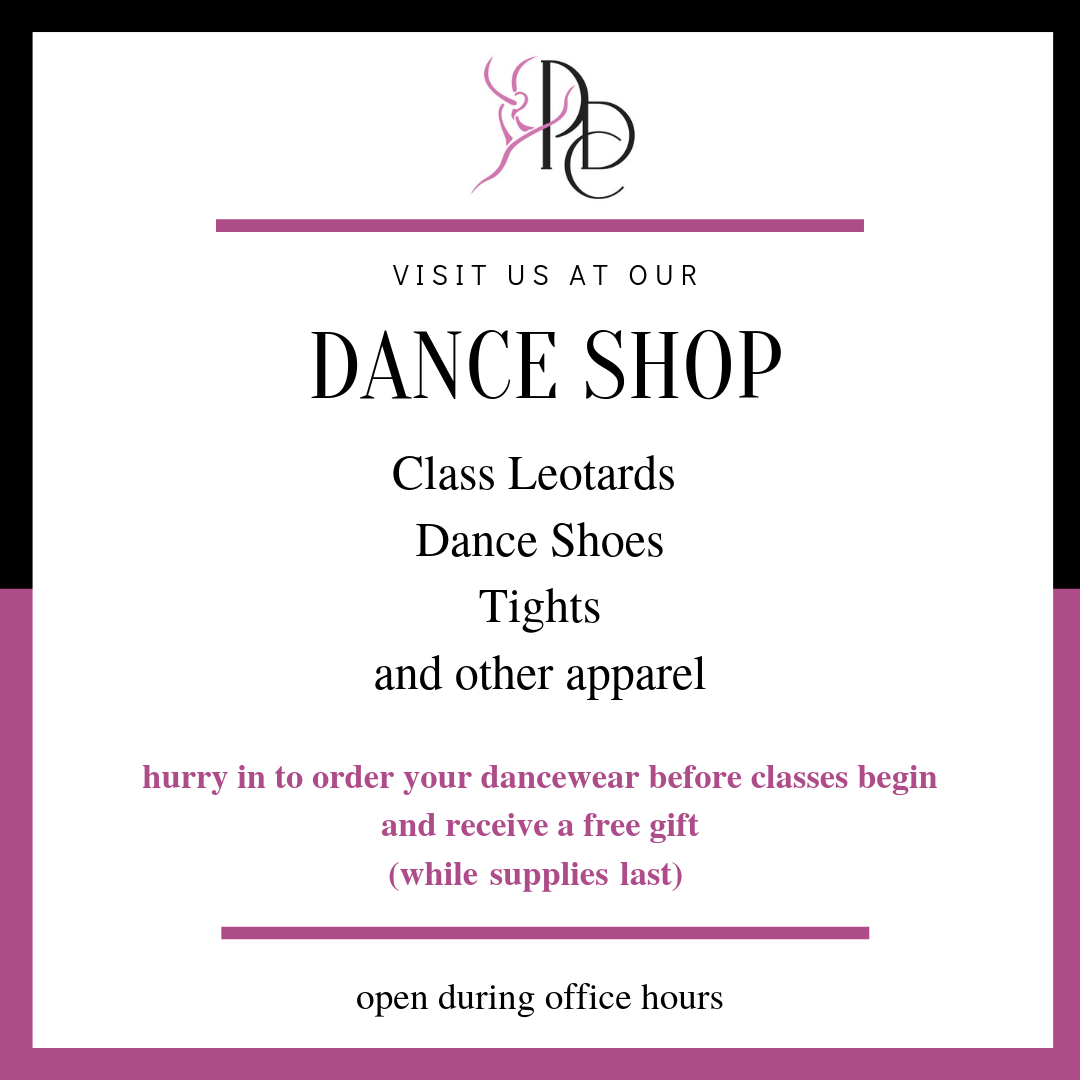 2019-2020 CLASSES - Registration is open!SCHEDULEMost classes run concurrently with the school year and conclude with an end-of-year, themed performance.We offer a variety of dance styles - ballet, pointe, jazz, contemporary/lyrical, hip hop, and tap.