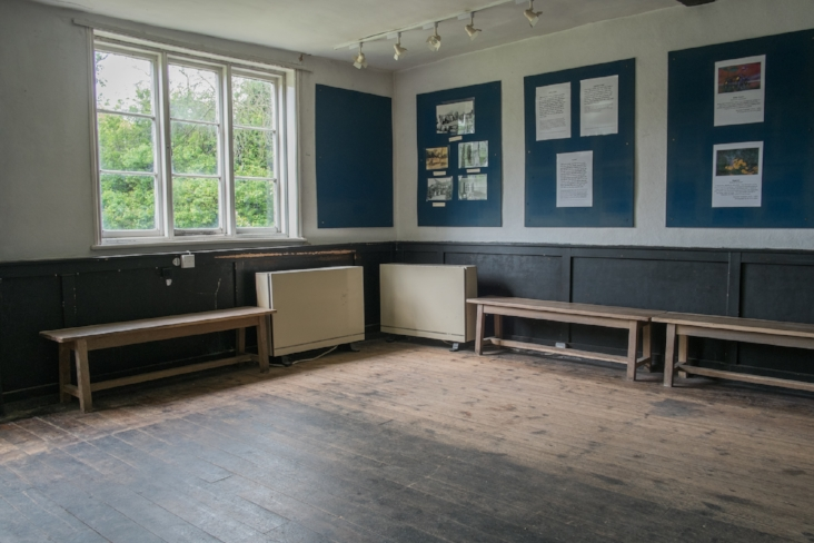 Before - Headstone Manor's room 2 before the extensive restoration works. 2016