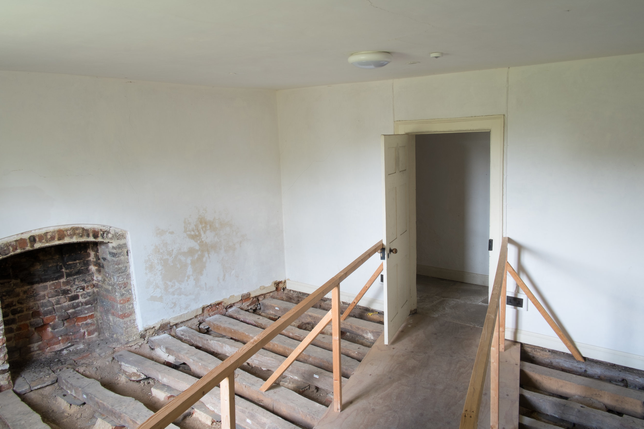 Before and After Photographs of Historic house renovation funded by HLF