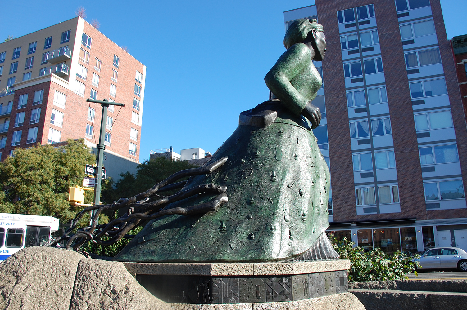 Alison Saar,  Swing Low: Harriet Tubman Memorial , dedicated November 13, 2008. 13 feet (H), bronze and Chinese granite. Photo by Renée Ater.