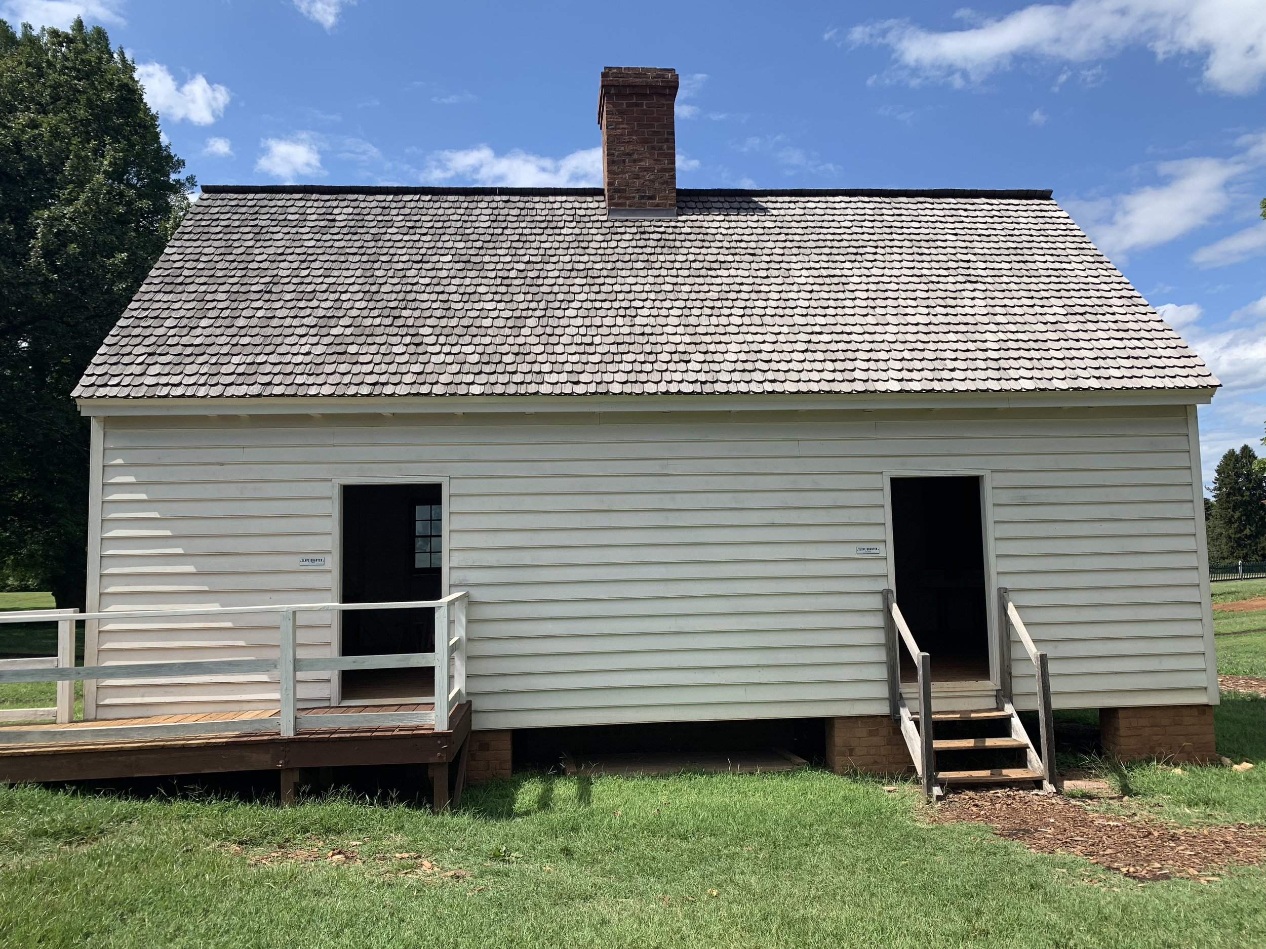 Slave Quarter, Montpelier. Photo by Renée Ater, August 2019.