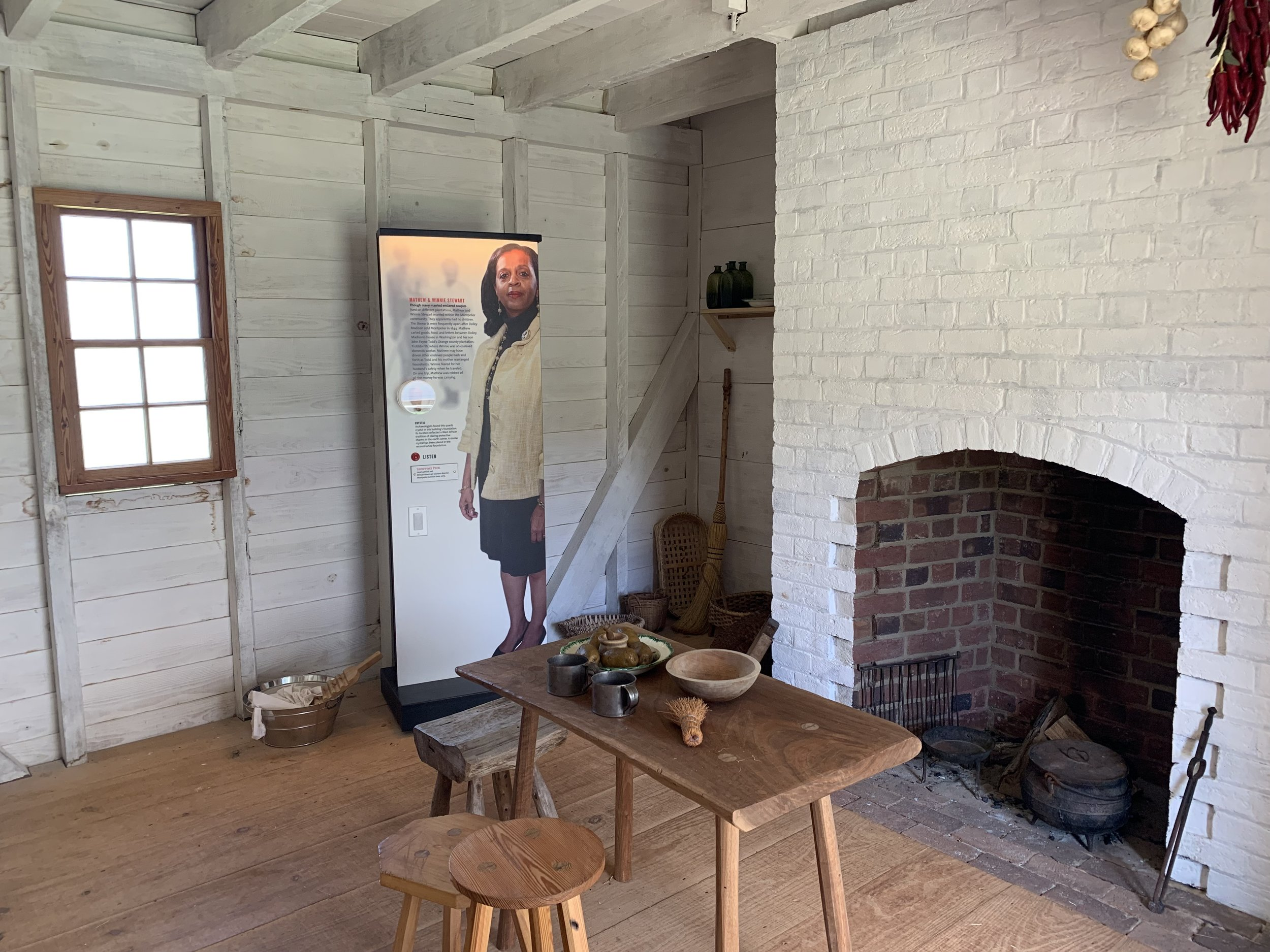 Interior Slave Quarter, Montpelier. Photo by Renée Ater, August 2019.