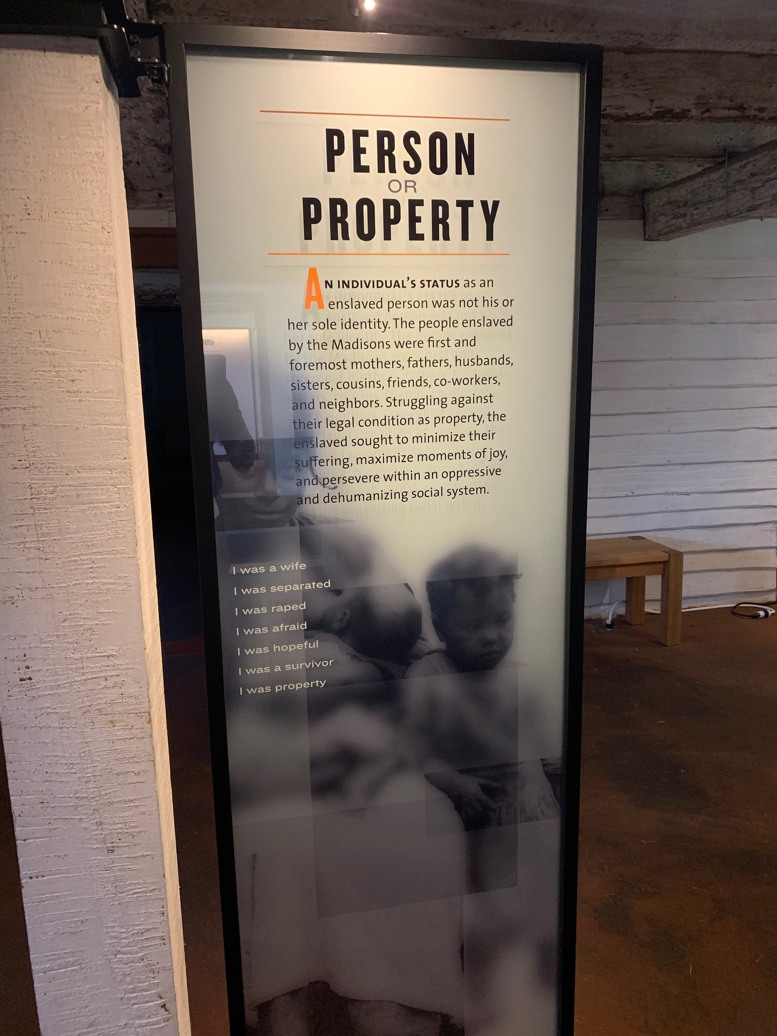 """Person or Property,"" from  The Mere Distinction of Colour  exhibition, Montpelier. Photo by Renée Ater, August 2019."