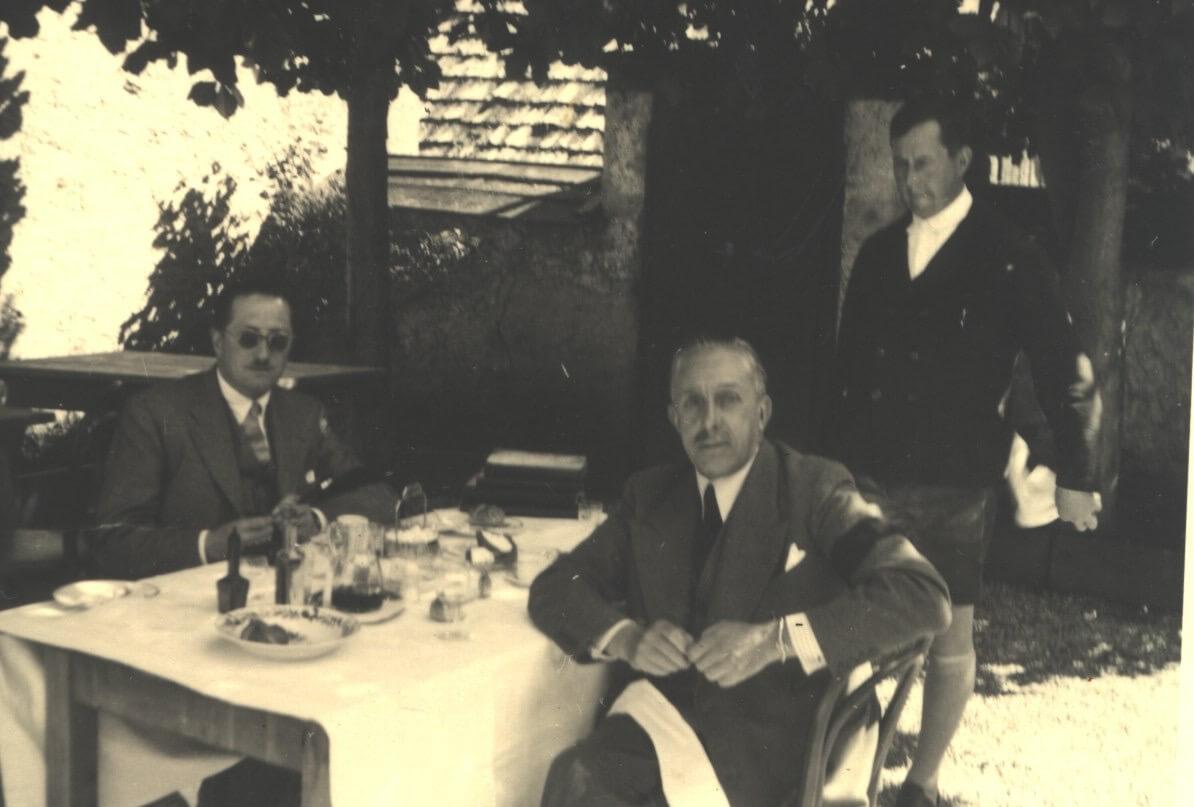 König Alfons XIII von Spanien im Postmayr-Garten