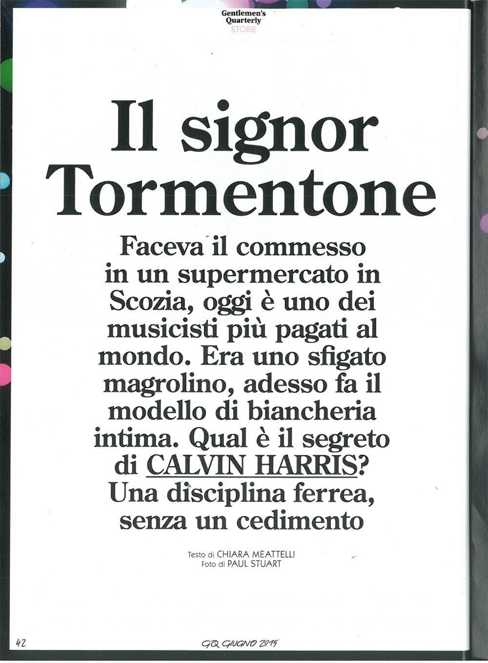 GQ: Calvin Harris interview