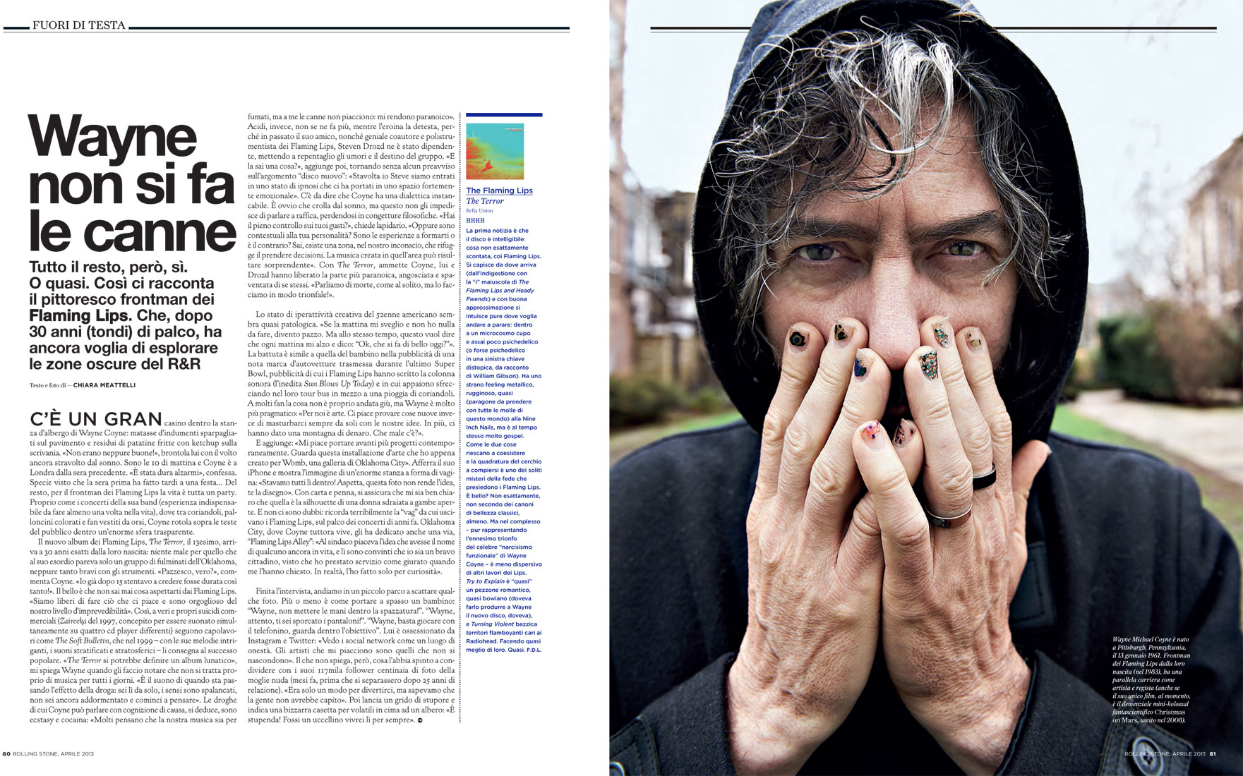 Rolling Stone magazine: Flaming Lips interview & photo