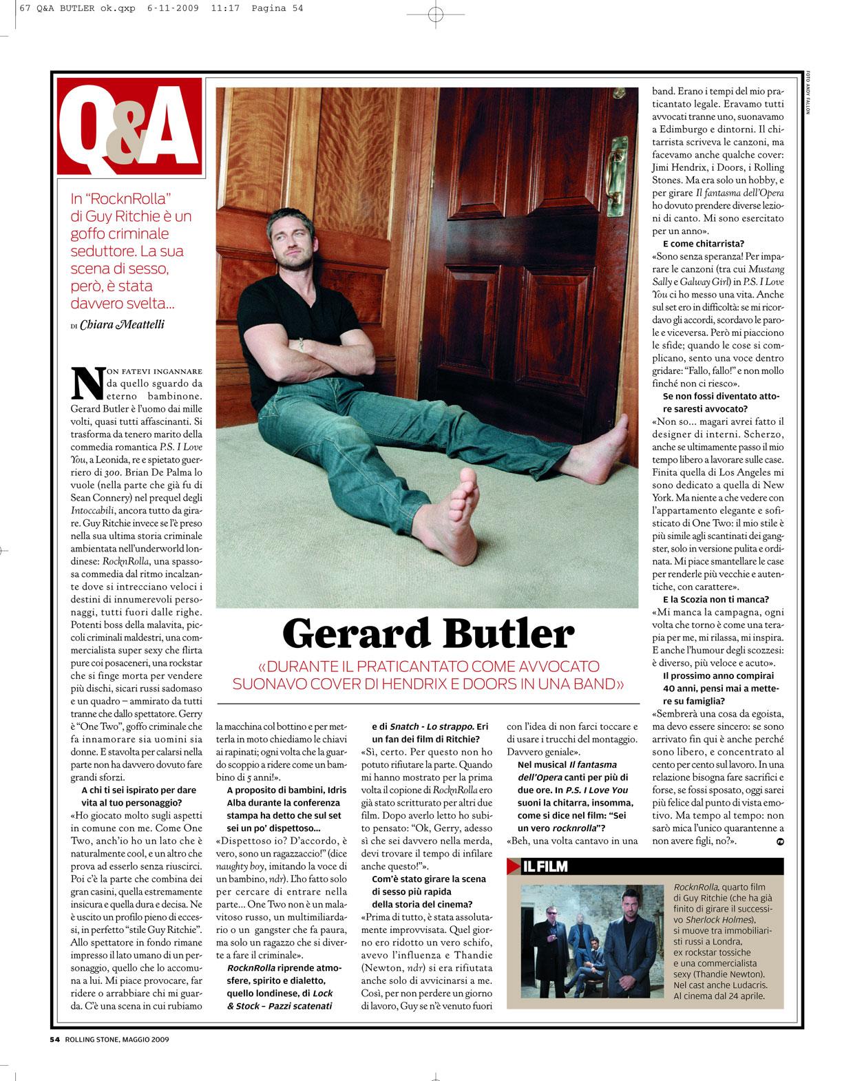 Rolling Stone magazine: Gerard Butler interview