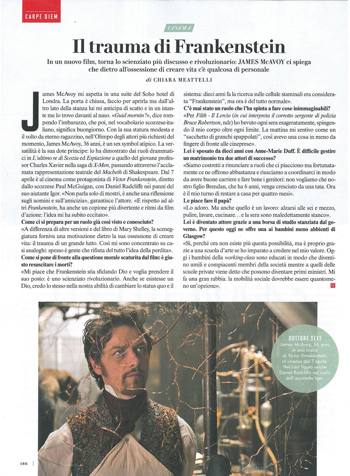 Vanity Fair: James McAvoy interview