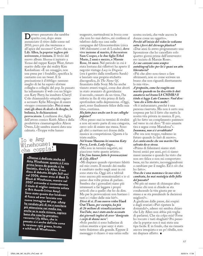 Grazia: Lily Allen interview