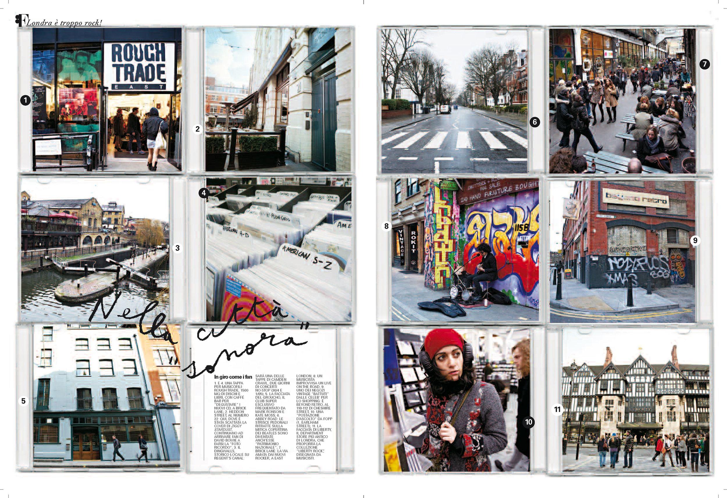 Flair magazine: London rocks reportage