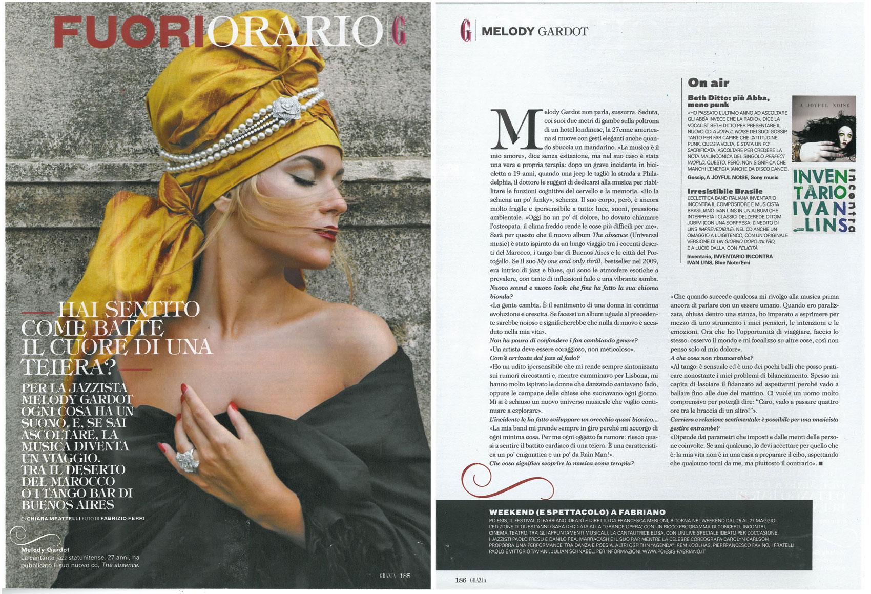 Grazia: Melody Gardot interview