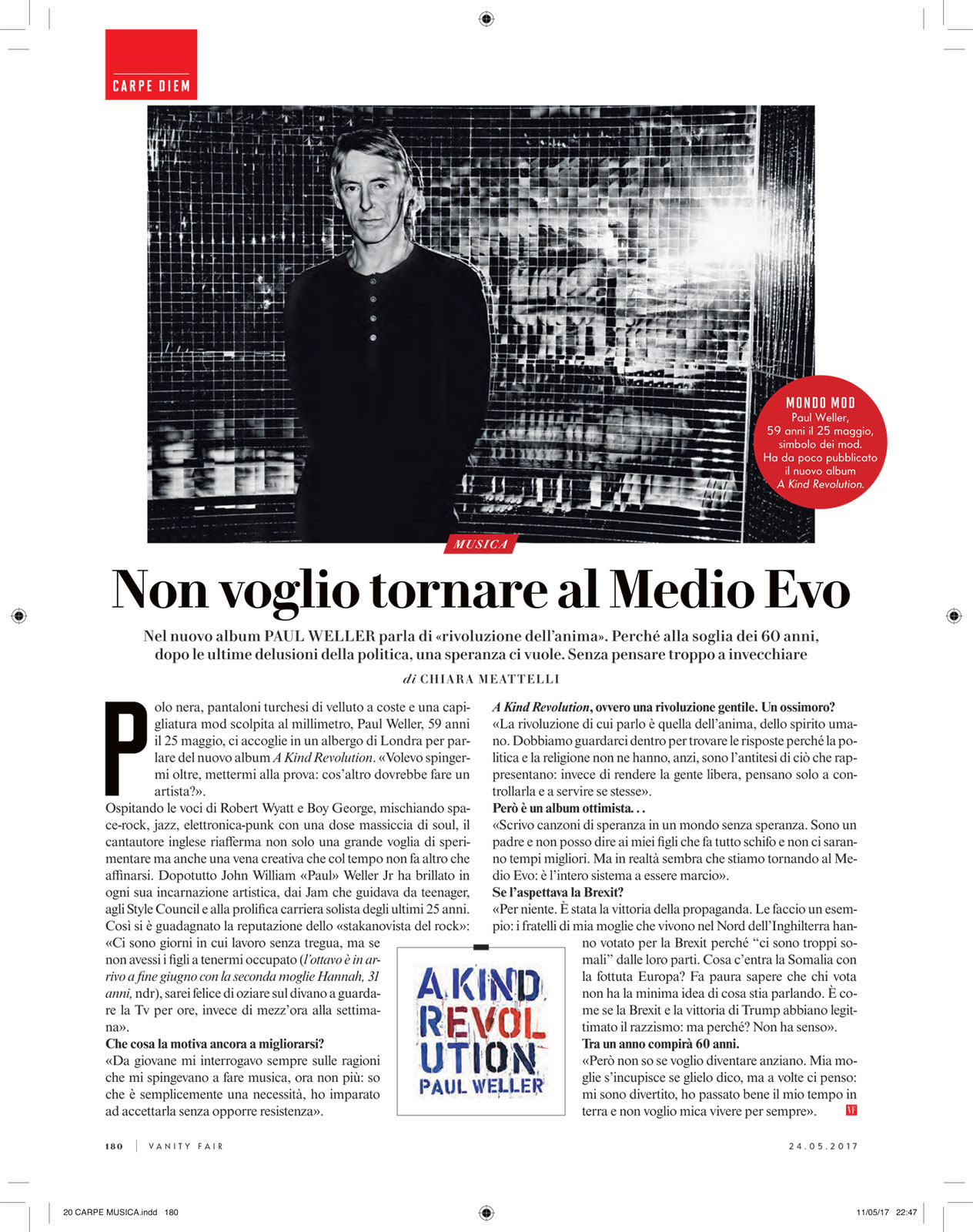 Vanity Fair: Paul Weller interview