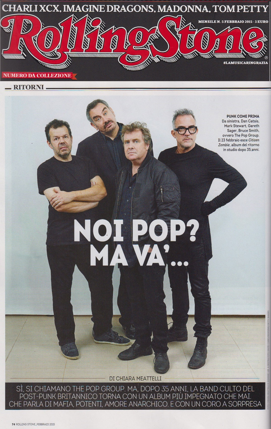 The Pop Group: photo & interview