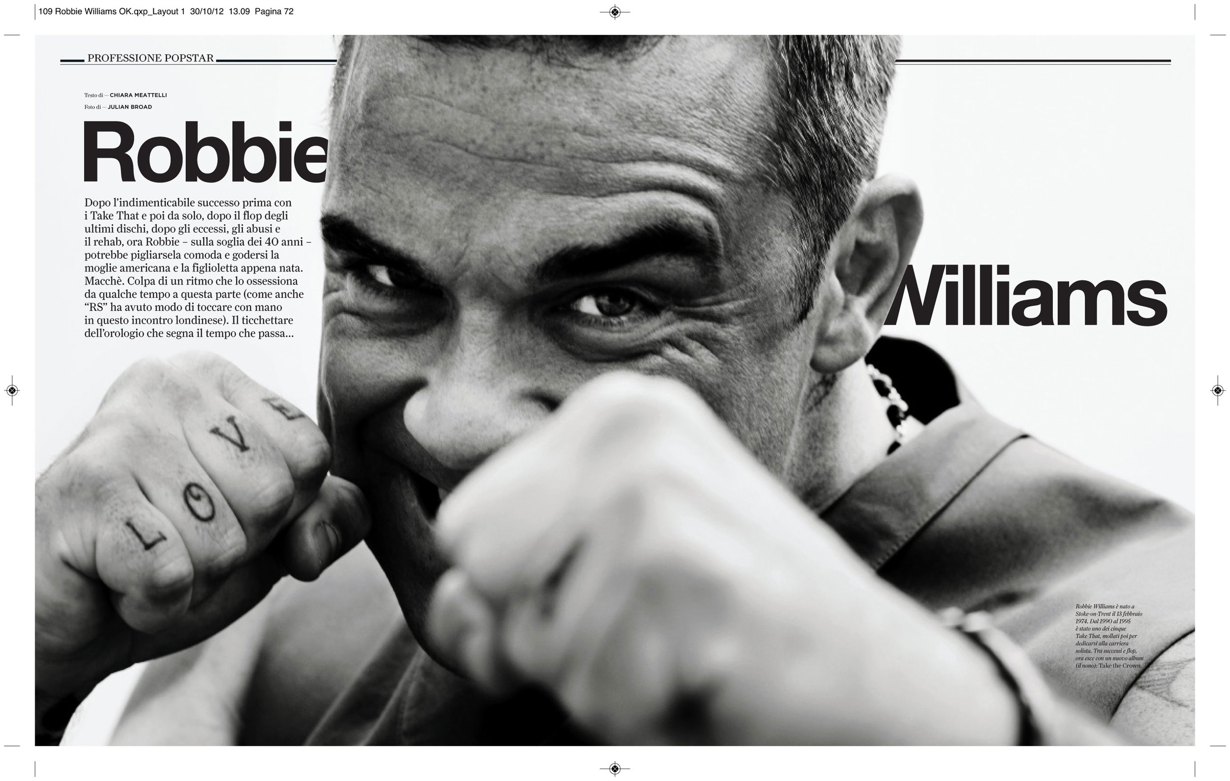 Rolling Stone magazine: Robbie Williams interview