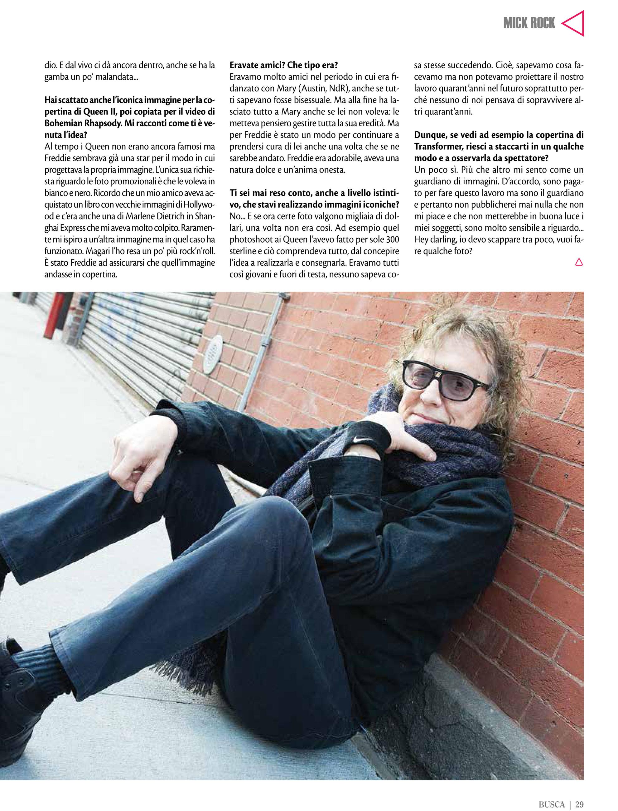 Buscadero: Mick Rock interview & photo