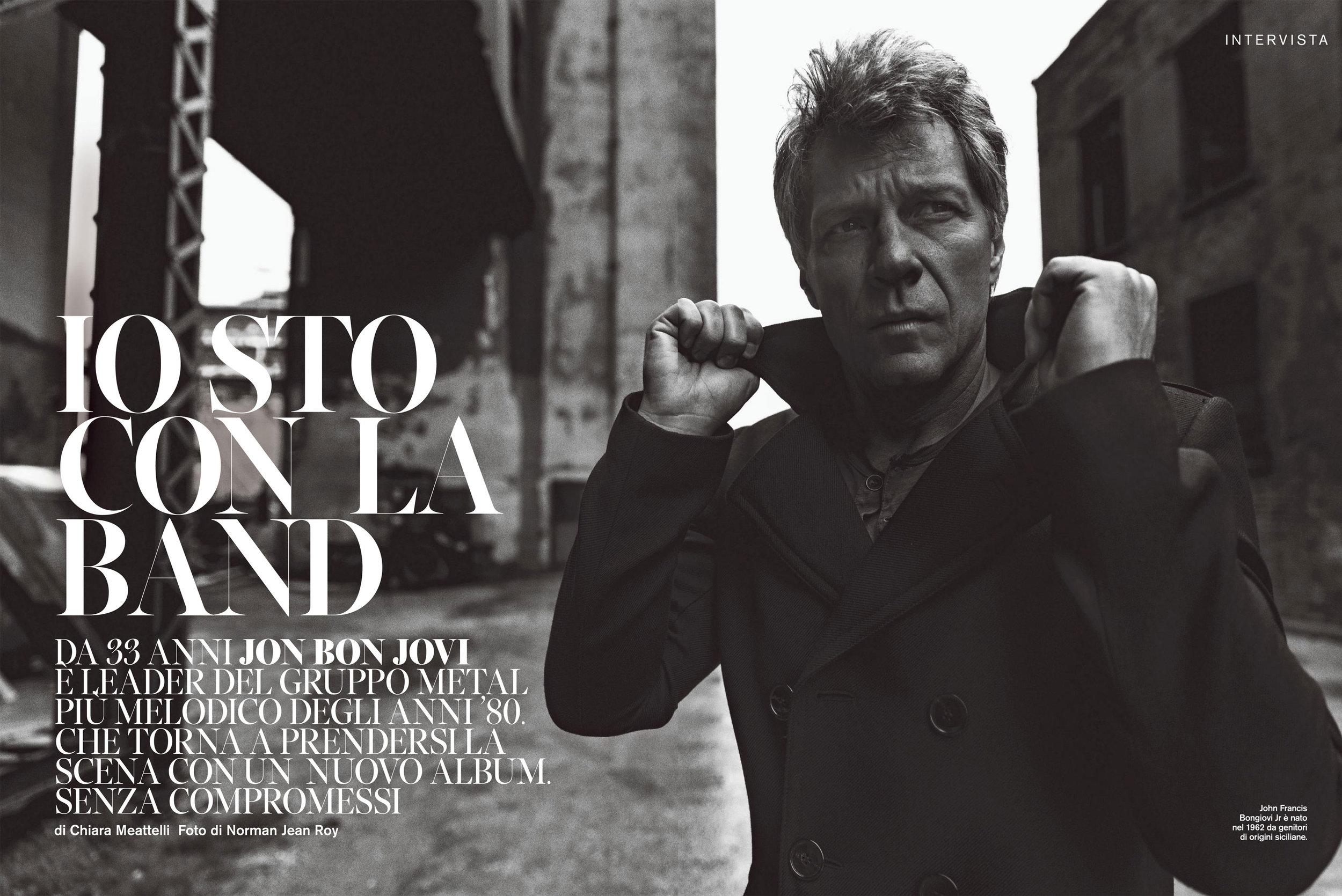 """D"" La Repubblica: Jon Bon Jovi interview"