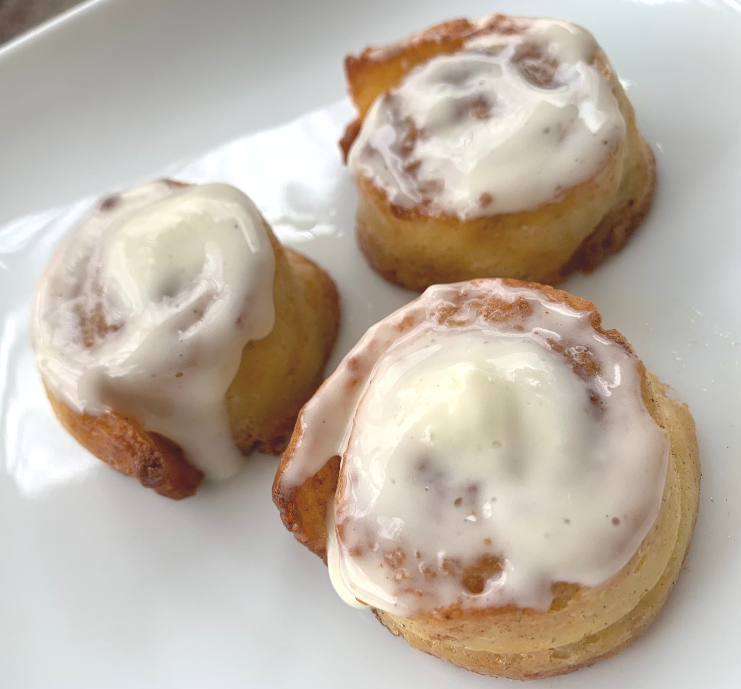 9. Top the rolls with the icing and enjoy! -