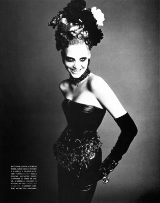 BLACK IS BACK - VOGUE ITALIA by Steven Meisel
