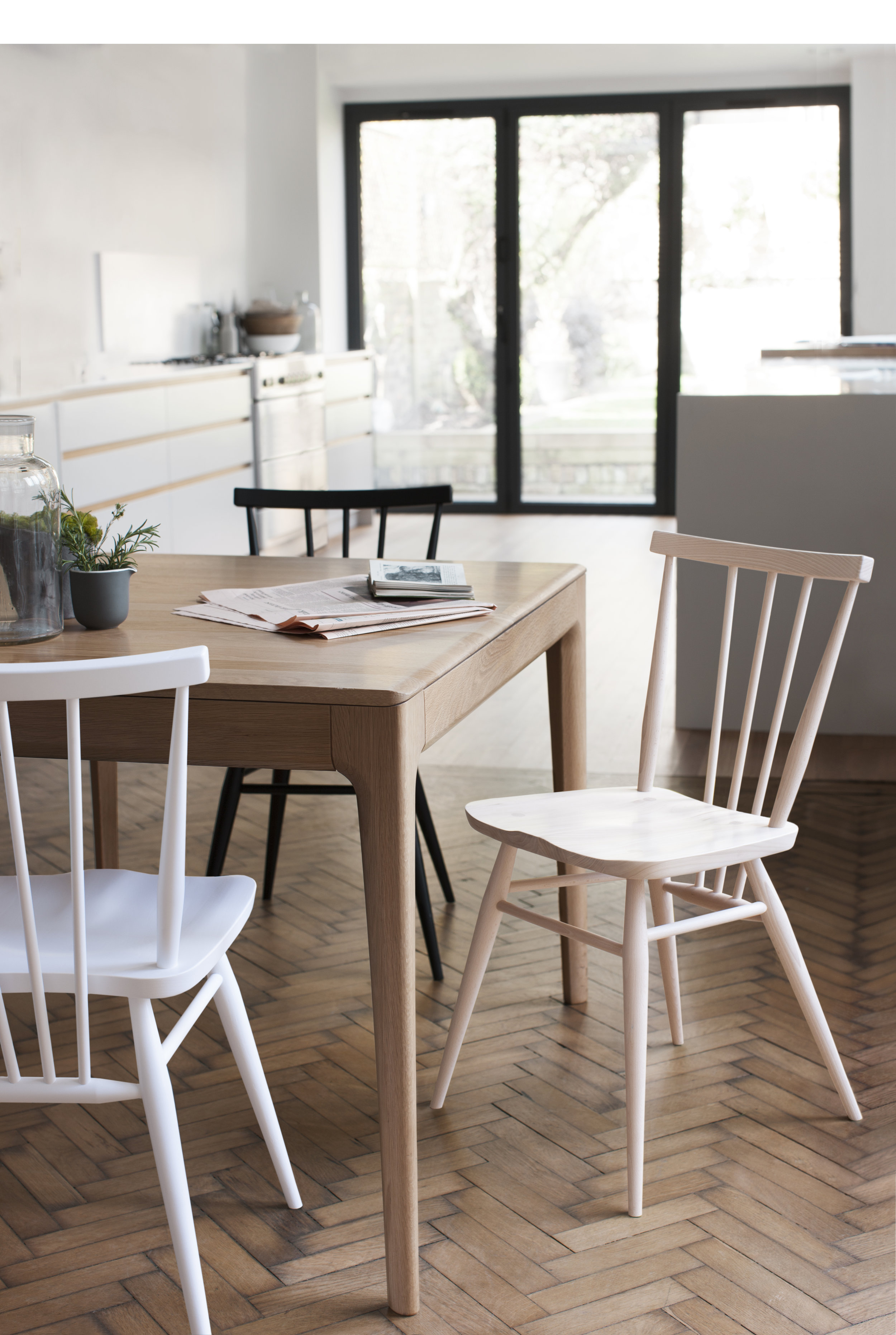 ercol 3355 all-purpose chair natural and white finishes and 2640 romana small extending table.jpg copy.jpg