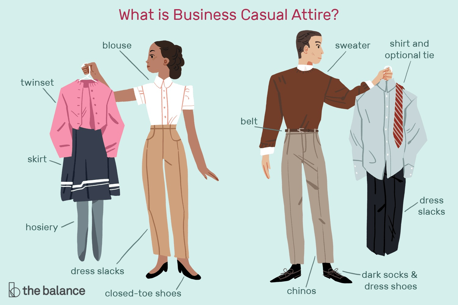 from  https://www.thebalancecareers.com/what-is-business-casual-attire-2061168