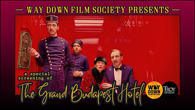 Next WED The Way Down Film Society will meet @troy_phenixcity watching @wesandersonplanet @thegrandbudapesthotel  Meet-and-greet 6 p.m. with the program kicking off at 6:30 p.m. (Please check the lobby marquee for the room number.) This month we will be screening The Grand Budapest Hotel, the 2014 indie comedy from director #WesAnderson (Rushmore, Isle of Dogs). @wesandersonplanet  films are known for their quirky characters, precise production design and his ensemble of actors who repeatedly appear in his films. Grand Budapest features Ray Fiennes, F. Murray Abraham, Adrian Brody, Willem Dafoe, Harvey Keitel, Jude Law, Bill Murray, Ed Norton, Tilda Swinton and many more! For those of you who have not been able to attend our meetings yet, you may bring food and the drinks of your choice into the meeting room. It's a comfortable classroom-style set-up with tables and chairs, so you can eat dinner as we watch the movie. Hope to see you on the 19th! Scott Phillips Founder, Way Down Film Society  #waydownfilmsociety #film #screening #waydown #waydownfilm #waydownfilmfestival #photography #photooftheday #instagood #love #fun #fashion #food #drinks #filmsociety
