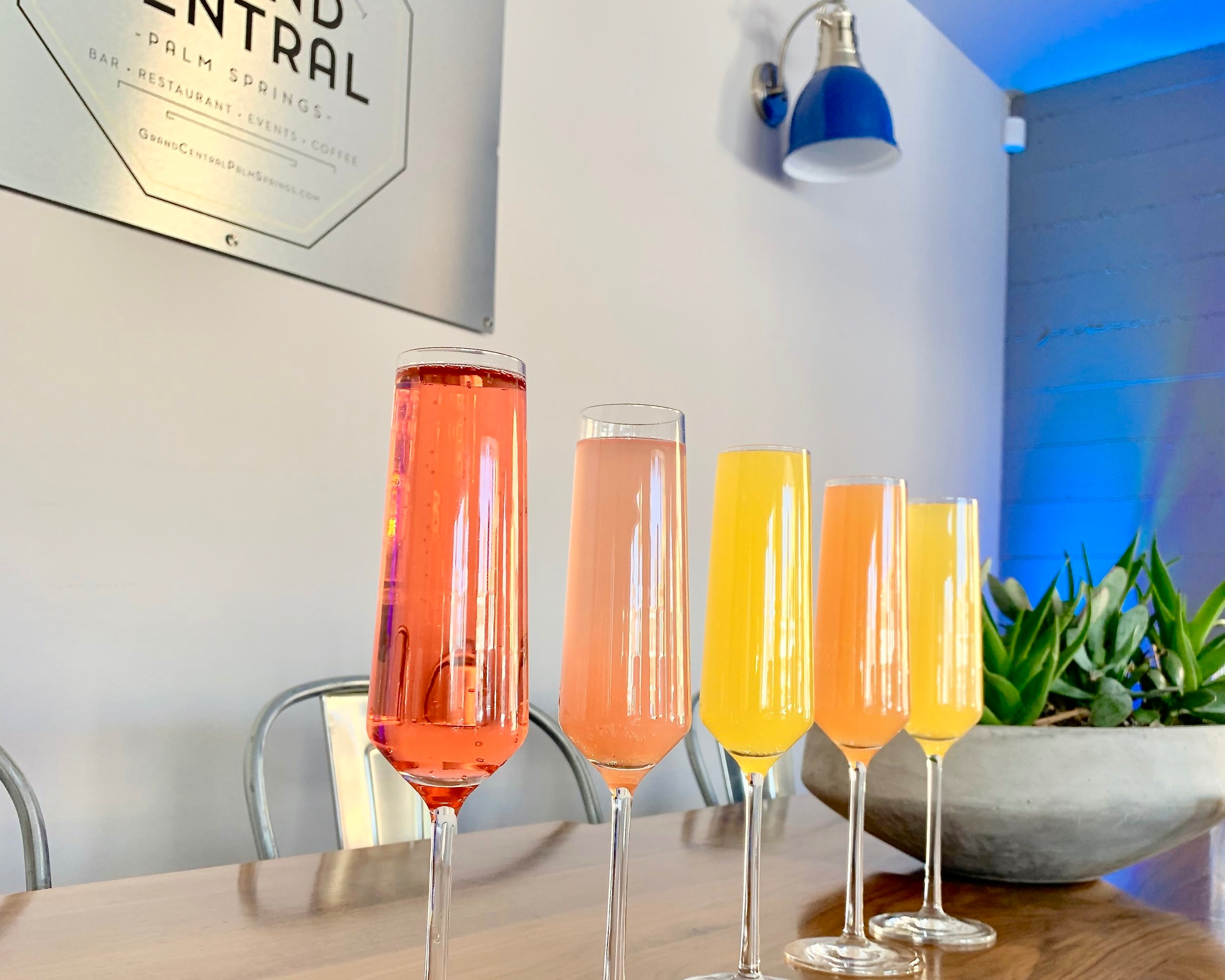 Mimosa Flights at Grand Central Palm Springs