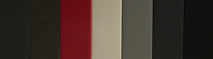 ARBOR GREEN, FOUNDRY BRONZE, EMBLEM RED, ATELIER WHITE, IRON BLACK, MASON GRAY, SLATE
