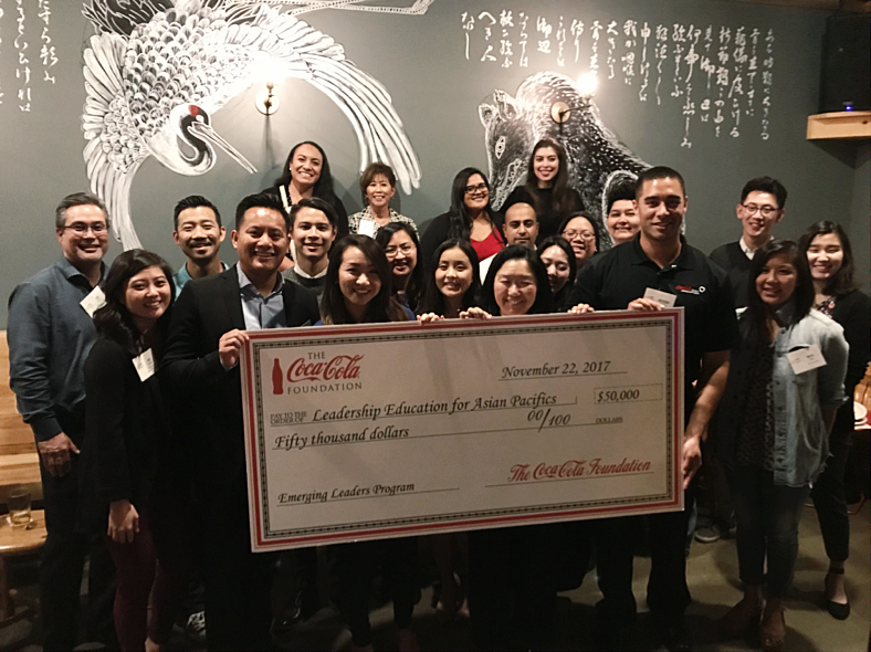 - On November 21, 2017 LEAP celebrated the program with future participants of the ELP, LEAP alumni, staff, board members, supporters, and Coca-Cola at Wolf and Crane in Los Angeles, California.