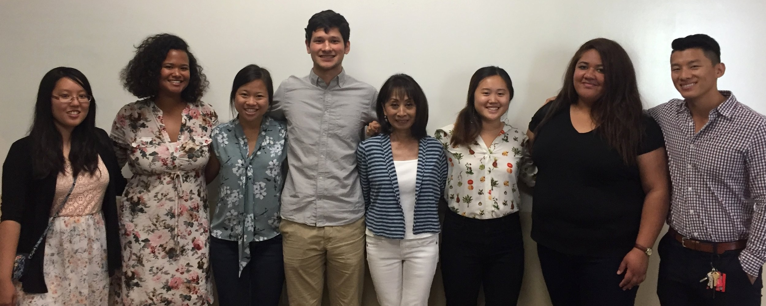- With long-time LEAP trainer, Vanna Novak, on public speaking.Left to Right: Lena Pham, Susana Abdurahman, Angela Yip, Joshua Jiang, Vanna Novak, Alison Choi, Louisa Sasi, and Kevin Hang