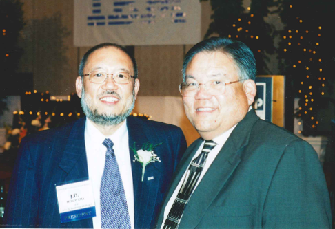 - Ken (right) at the 18th Leadership Awards Gala in July of 2000 with former LEAP President and CEO, JD Hokoyama.
