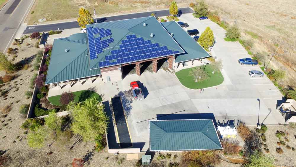 Fire department California | 188 kW (4 sites) Developed by  Vista Solar