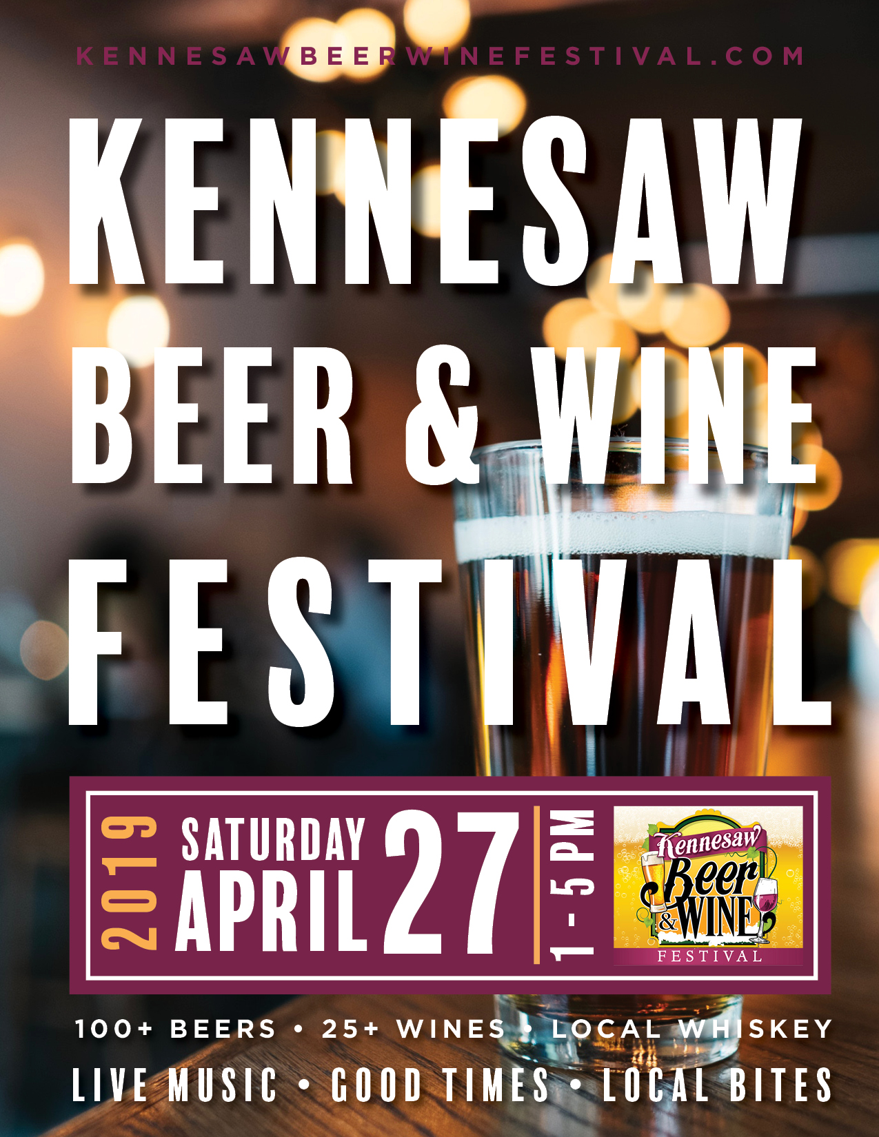 Poster concept 1 for Kennesaw Beer & Wine Festival