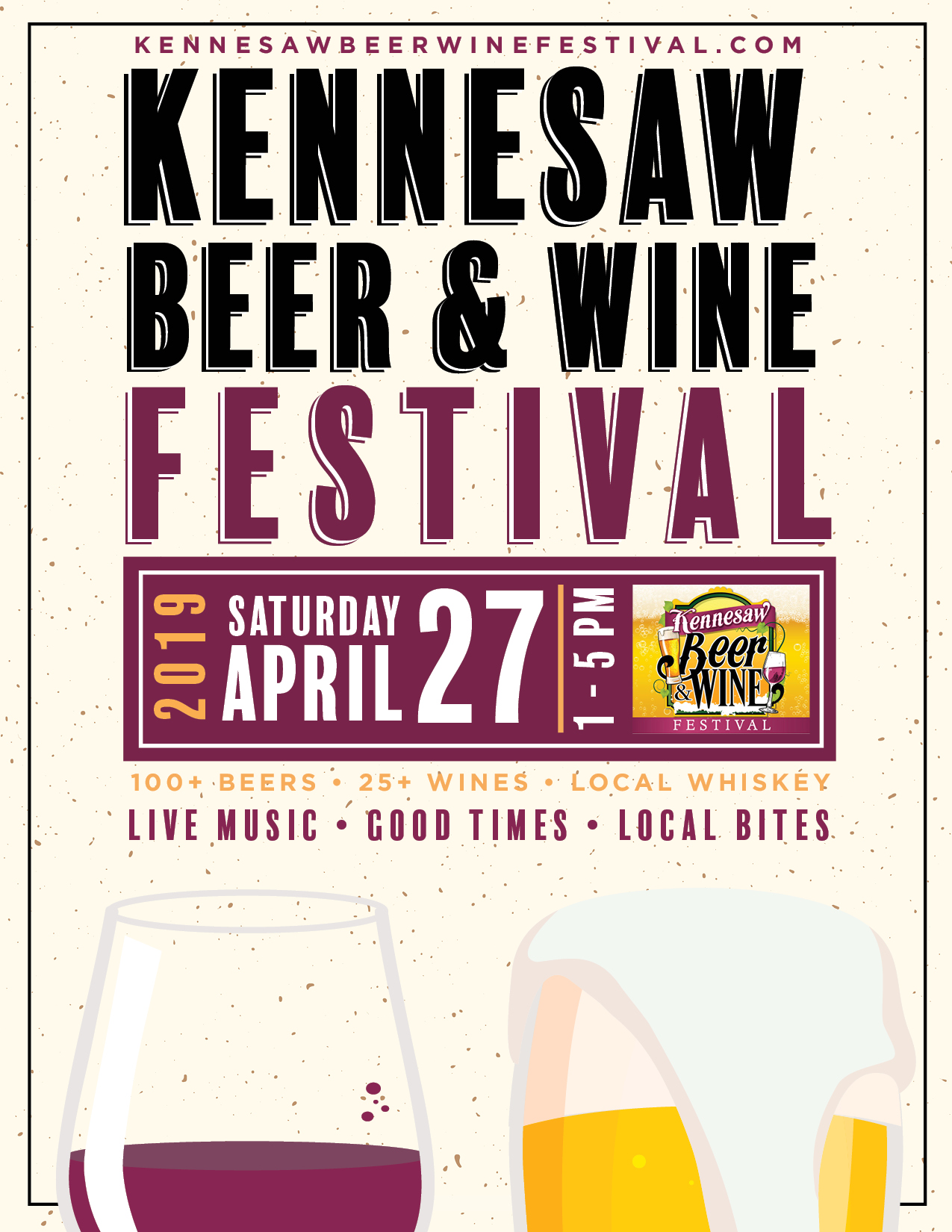 Poster concept 2 for Kennesaw Beer & Wine Festival