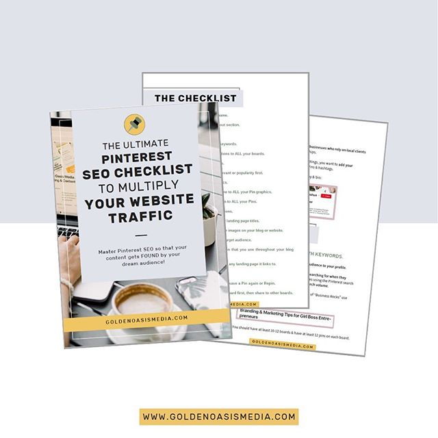 ⚡️FREE PINTEREST SEO CHECKLIST⚡️ . Did you know that keywords on Pinterest are what actually get your content found? . If you're not implementing Pinterest SEO correctly, then you're pretty much invisible to your dream audience...and I DEFINITELY don't  want that for you. . So that's why I created the ultimate step-by-step Pinterest SEO checklist so you can quickly become a Pinterest SEO master & multiply the traffic coming to your website.⚡️ . With this juicy FREE checklist & guide, you'll: 🔥 Uncover 18 crucial steps for you to get more visible on Pinterest & multiply your website traffic . ✨ Learn how to implement each SEO step correctly so that you feel confident in using these steps in your long term strategy . 💪🏼 Be armed with the strongest Pinterest SEO strategy to get you one step closer to your reaching your Pinterest & biz growth goalz . Plus, swipe left ▶️ to see what my coach had to say about it when I shared it with her 🤣 yeah, it's THAT good! . Snag the freebie in the link in my bio!💥 . . . . . . . . #pinterestforbusiness #socialmediastrategy #fempreneur #beingboss #pinteresttips #pinterestmarketing #smallbusinessadvice #solopreneur #creativebusinessowner #growyourbiz #businesschicks #womenhelpingwomen #girlbosses #businessinheels #businessbusinessbusiness #findyourflock #communityovercompetition #hustlewithease #beingboss #risingtidesociety #womenwhohustle #ladieswholaunch #sayyestosuccess #collectivehub #pinterestsuccess #savvybusinessowner