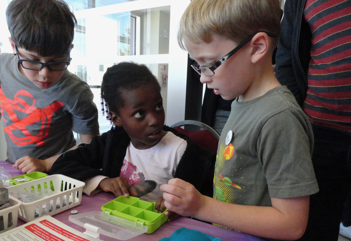 Kids learn to sew at Althea's