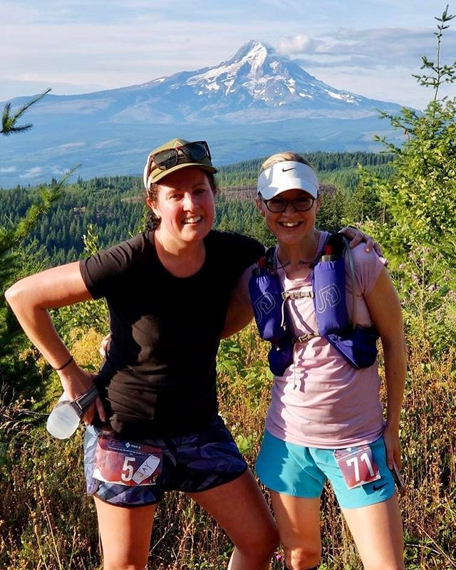 Running races with my old Boise crew the Sloth runners is quite possibly the best way to spend a weekend. The @postcanyon50khalfmarathon Half Marathon was great and a way better race day for me than last weekend. 🙌🏼🏃🏽♀️Also got good views of Mt Hood & Adams in today's race and got to meet some great people from @rainshadowrunning 💥A beautiful day to run trails today and hang at the finish line! Congratulations to Zif who is now OFFICIALLY an ultra runner! 💥💥💥💥💪🏼🏃🏽♀️YeaH Girl!