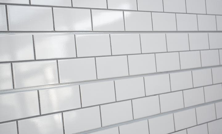 White w/ Grey Grout