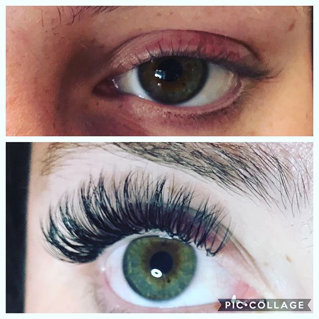 Before and after volume lashes on this beauty #lashextensions #lashes #pretty #lashesfordays #beauty #vancouverlashes #lashfete #volumelashes